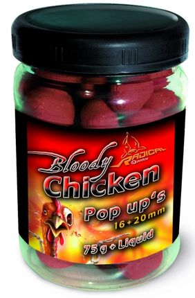 Pop-Up Boilies Radical 16 + 20 mm-Bloody Chicken