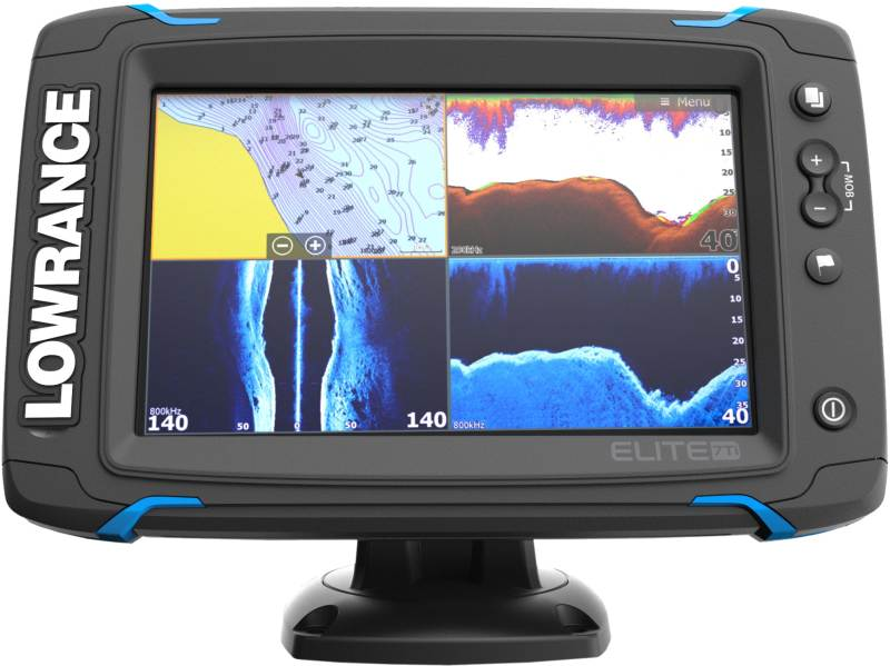 Dotykový sonar LOWRANCE Elite-7Ti so sondou na more-sonar + sonda more