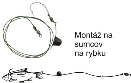 Systém Black Cat Deadbait # 2/0 (jednohák)