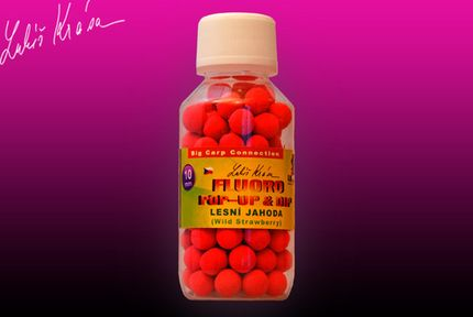Pop-Up Boilies Fluoro Wild Strawberry 10 mm