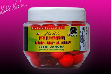 Pop-Up Boilies Fluoro Wild Strawberry 18 mm