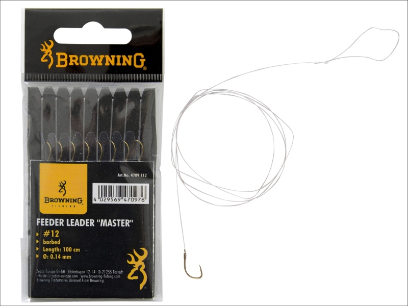 Feeder nadväzec - Feeder hook-to-nylon Master bronze