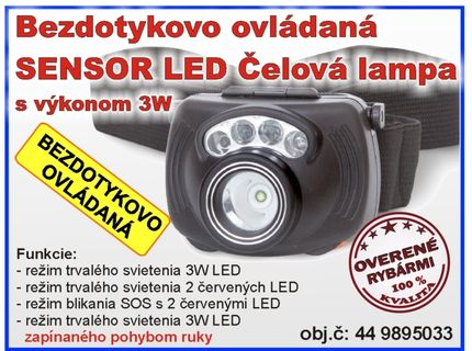 Čelovka Sensor LED Headlight 3W