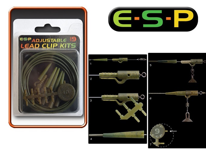 E-S-P ADJUSTABLE LEAD CLIP KITS / Weedy Green