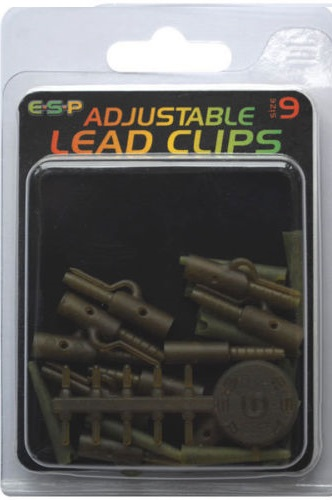 E-S-P ADJUSTABLE LEAD CLIP / Camo Brown